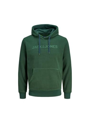 Jack & Jones Jorneuby Sweat Hood Erkek Sweatshirt Yeşil